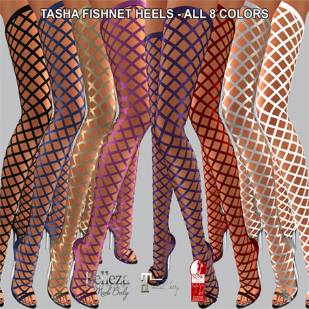 TASHA FISHNET HEELS ALL COLORS AD